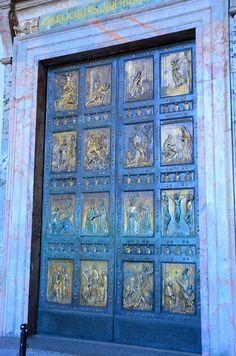 Door, Vatican Museum, Vatican City, Italy