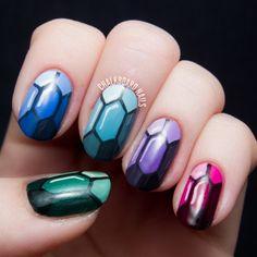 Nail Art Tutorial Preciosas Gemas Nail Art
