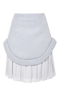 Neoprene And Georgette Pleated Skirt by  for Preorder on Moda Operandi