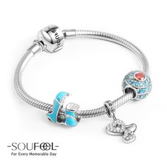 Soufeel Holiday On The Beach Charm Bracelet 925 Sterling Silver, for every memorable day. It's  so cute.