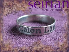 Calon Lân (pure heart in Welsh) silver ring made by me and available from www.seirian.me £40