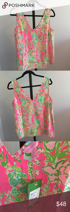 NWT Lilly Pulitzer Cipriani Silk Tank - Large NWT Lilly Pulitzer Cipriani Silk Tank - Large - Southern Charm Pattern - Lots of great Lilly pieces in my closet, bundle away!! Price is firm. Lilly Pulitzer Tops Tank Tops