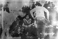 Title: Skede, Latvia, Women commanded to undress before their execution by Einsatzgruppe A and Latvian collaboratores, 15/12/1941.