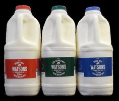 Watson's Fresh British Milk .  Homogenised and standardised.  2 litres.  Produced in the UK.