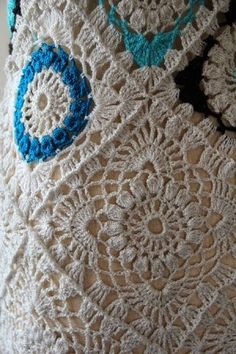 crochelinhasagulhas: Vestido vintage de crochê