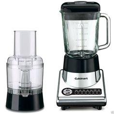 Cuisinart Blender Food Processor 12-Cup 600-Watt Motor Large Glass Blender Jar #Cuisinart