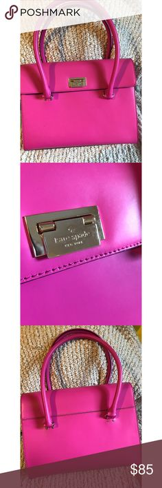 Bright Pink Kate Spade ♠️🌸 Used but still in very good condition. Bag has minor signs of wear. There is a small black mark and tiny scuff on the bag which is shown in pictures. The inside is bright orange. No stains on the inside. kate spade Bags