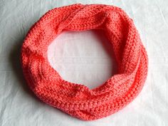 Tropical Pink Infinity Scarf Womens Crochet Cowl Knit Circle Scarf Fall and Winter Neckwarmer #handmade #gifts