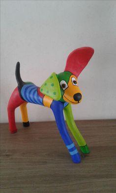Dierfiguren knutselen Paper Mache Sculpture, Sculpture Projects, Sculpture Art, Art Projects, Paper Mache Crafts, Clay Crafts, Arts And Crafts, Pallet Crafts, Wood Art