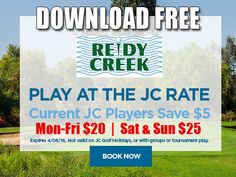 JC Golf Coupon – Reidy Creek Golf Course Tee Time Special