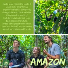 James Trott enjoyed his time volunteering at our Primate Research & Conservation programme in the Amazon of Peru :) You can join this and many other programmes in the Amazon all year!