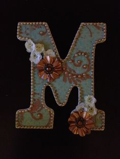 """M"" wooden letter  I really like the look of this just would have to make a T"