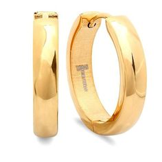Rustic Delano Huggie Earrings - 18K Gold Plated - Save 82% Just $9.99