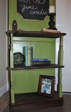 Bookshelf from an old door