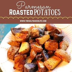 Sides don't have to be boring, these roasted parmesan potatoes come together super quick and they are anything but boring...plus they come together super quick and everyone is sure to love them!  Roasted Parmesan Potatoes Serves 6 Prep Time - 5 min  Cook Time - 40 min  Total Time - 45 min Ingredients 2 lbs new potatoes 1 tbsp extra virgin olive oil 1 tbsp salt 1 tbsp pepper 2 tsp chili powder 2 tsp garlic powder 2 tsp grated parmesan cheese Instructions Preheat oven to 400 Line a rimmed…