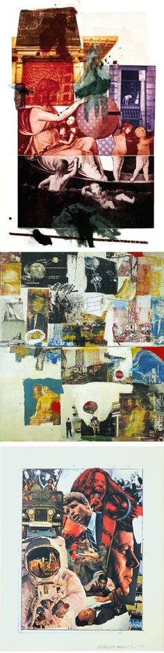 Robert Rauschenberg top to bottom: Bellini Skyway, Signs, 1970 Graphic Design Illustration, Illustration Art, Illustrations, Collage Artists, Collages, Modern Art, Contemporary Art, Robert Rauschenberg, Art Party