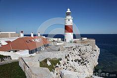 Europa Point lighthouse in Gibraltar by Typhoonski, via Dreamstime