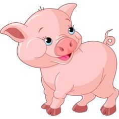 All Cartoon Funny Pigs Clip Art Images Are On A Transparent Background
