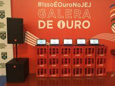 Stand Coca Cola nos Jogos Escolares da Juventude 2015 em Londrina. Projeto audio visual Frezarin Eventos.