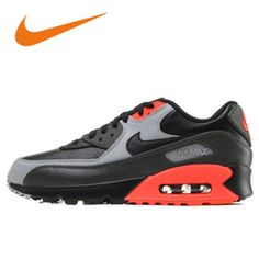 nike air max 90 black leather mens trainers