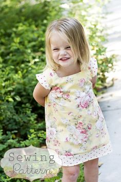 This adorable A-line Elsie Dress pattern is an easy and fun project for a summer afternoon. Pick some coordinating fabric for the ruffled