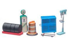 Greenlight Series 6 Muscle Car Garage Shop Tools Set 1/64