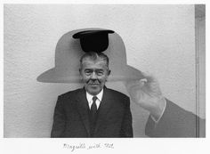 """Magritte with Hat"" by Duane Michaels (1965)"