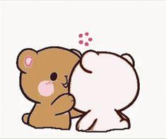 Cute Anime Cat, Cute Bunny Cartoon, Cute Couple Cartoon, Cute Cartoon Pictures, Cute Love Memes, Cute Love Gif, Cute Cartoon Wallpapers, Animes Wallpapers, Kiss Animated Gif