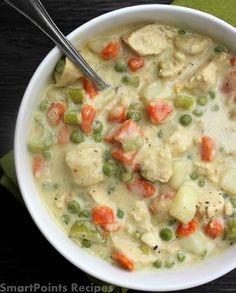Smartpoints Recipes – Daily weight watchers recipes & tips | Chicken Pot Pie Soup ( 7 SmartPoints )