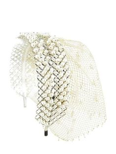 ROSANTICA - TEODOLINDA HEADBAND WITH VEIL - LUISAVIAROMA - LUXURY SHOPPING WORLDWIDE SHIPPING - FLORENCE