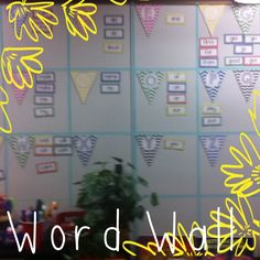 word wall using bunting from my tpt store