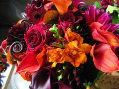 Nicolette Camille-Jewel-toned Flowers-Camille Styles Events