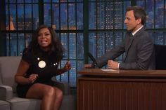 "Taraji P. Henson appeared on ""Late Night With Seth Meyers"" sharing the secret behind Cookie Lyon's ability to remain fierce without the luxury of cursing. Henson is hosting ""Saturday Night Live"" this weekend. Watch the ""Late Night"" video above."