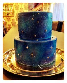 galaxy wedding cake - Google Search
