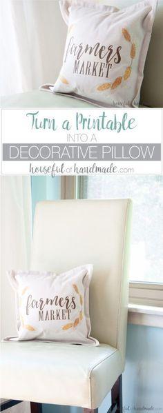 How to make a pillow stencil