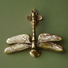 Brass Dragonfly Door Knocker