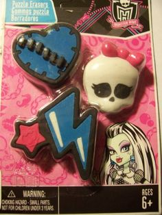 """Monster High Puzzle Erasers ~ Healing Heart by Monster High. $6.95. Monster High Puzzle Erasers ~ Healing Heart!   Erasers are 1.5"""" to 2"""" in diameter."""
