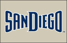 San Diego Padres Jersey Logo on Chris Creamer's Sports Logos Page - SportsLogos. A virtual museum of sports logos, uniforms and historical items. Graffiti Lettering Fonts, Typography, Word Mark Logo, Bakery Logo, Fb Profile, San Diego Chargers, San Diego Padres, Cali, Snowboarding Girl
