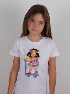 #camiseta #personalizada #muñeca en patinete