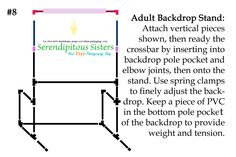 An Adjustable Newborn, Child & Adult Backdrop Stand   Wow! I am still in shock at how many hits our last few posts have received from Pinter...