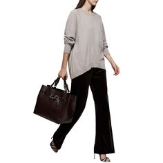 BuyReiss Albany Cashmere Crew Jumper, Natural, XS Online at johnlewis.com