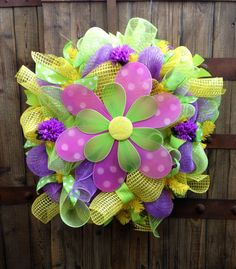 Summer Blowout Wreath, summer deco mesh wreath