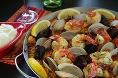 Step by step - Seafood Paella Recipe (Paella Marinera)