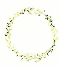 Wreath, by Paloma Navio Following Botanical Watercolour Wreath Tutorial here: http://masteringwatercolours.org/1/post/2015/11/new-wreaths.html