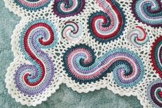 Kaye Adolphson Designs.  Double spiral throw.