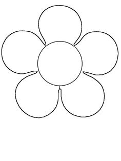 Print Coloring Page And Book Flower Simple Shapes Pages For Kids Of All Ages Updated On Saturday February