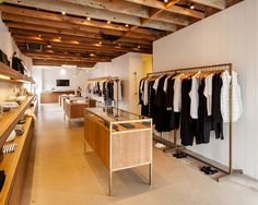 Jenni Kayne store at Brentwood Country Mart | hardwood floors + black + white style