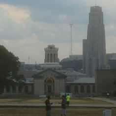 Hamerschlag Hall (Carnegie Mellon University) and Cathedral of Learning (University of Pittsburgh)