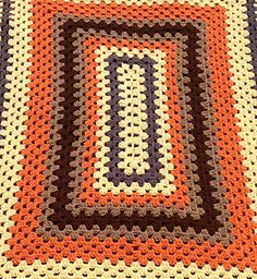 Rectangular Granny Afghan Using an I (5.5 mm) crochet hook, loosely chain 31. Round 1: Dc 2 times in 4th ch from hook (counts as 1 cluster), ch 2, 3 dc in same sp. ch 1, skip 2 ch, 3 dc in next c...