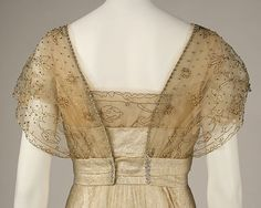 Evening dress Design House: House of Worth (French, 1858–1956) Date: ca. 1913 Culture: French Medium: silk